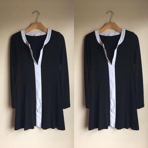 BCBGeneration Black and White Colorblock Dress XS